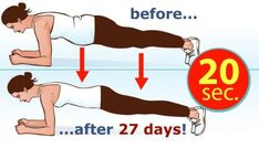 In today's article we will present you a fat-burning exercise recommended by many fitness experts and most importantly it can replace 1000 sit-ups. This exercise is called plank and it is the best sta Fitness Workouts, Easy Workouts, Fitness Goals, Yoga Fitness, Intensives Training, Melt Belly Fat, Plank Challenge, Vicks Vaporub, Plank Workout