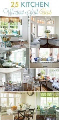 25+Kitchen+window+seat+ideas