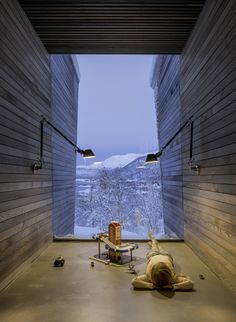 A Norwegian Family Retreat Balances Private and Communal Spaces is part of Architecture house - Stinessen Arkitektur designs a compound of clustered cabins that provides opportunities for family members to relax together or apart Architecture Extension, Modern Architecture Design, Amazing Architecture, Interior Architecture, Interior Design, Modern Interior, Casas Containers, Large Windows, Future House