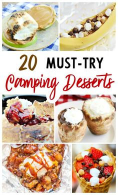 Over 20 camping desserts including dutch oven desserts, campfire. The Effective Pictures We Offer You About dry Camping Food A quality picture can tell y Camping Survival, Backpacking Food, Camping Checklist, Rv Camping, Walmart Camping, Survival Fishing, Scout Camping, Camping Trailers, Camping Chairs
