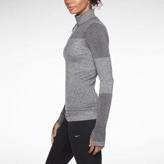Nike Dri-FIT Knit Long-Sleeve Half-Zip Women's Running Shirt