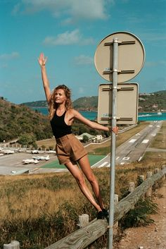Posing in St. Barth, Edita Vilkeviciute poses in vacation ready looks for WSJ Magazine April 2016 issue