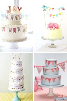 'i do' it yourself: cake bunting