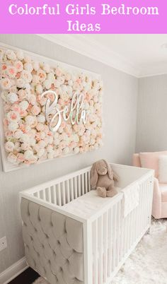Girl Nursery Ideas - Bring your child girl home to a lovable and functional nursery. Right here are some infant girl nursery design ideas for all of your decoration, bedding, and furnishings . Baby Boy Nursery Room Ideas, Baby Room Boy, Baby Bedroom, Project Nursery, Baby Room Decor, Girls Bedroom, Baby Rooms, Baby Room Ideas For Girls, Baby Girl Nursery Pink And Grey