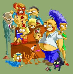 The Simpsons fanart Simpsons Drawings, Simpsons Art, Simpsons Springfield, Los Simsons, Homer And Marge, Rick And Morty Poster, Character Art, Character Design, Cartoon Crossovers