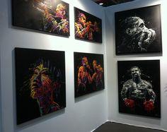 FLOW PAINTING - Arnaud Florentin - Art3f Salon International d'Art Contemporain de Metz.