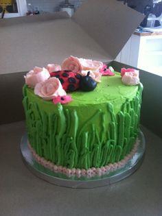 Lady bug garden child's birthday cake!teacakebakery@gmail.com