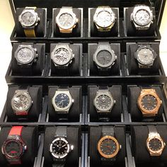 """Some of the @Hublot collection at @KlarlundCopenhagen  #DailyWatch"""