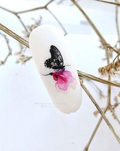 Butterfly Nail Designs, Aqua Nails, Nail Art, Watercolor Painting, Nail Arts, Nail Art Designs
