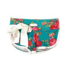 d19cdc3458 Cute Booty Shorts (Aqua Floral) -   SHIPS 7 15