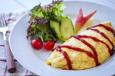 Omurice (Japanese Omelette Rice) オムライス | Easy Japanese Recipes at JustOneCookbook.com