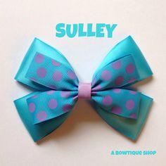 arco del pelo de Sulley por abowtiqueshop en Etsy