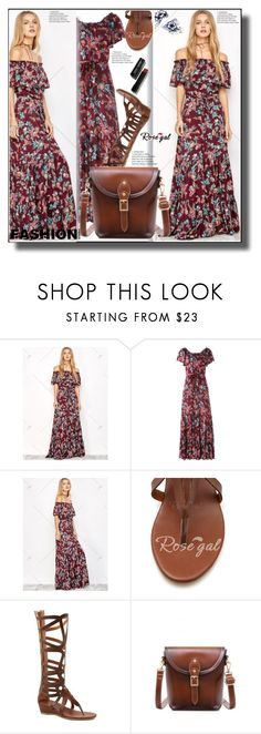 """""""Maxi Floral Dress 45"""" by ramiza-rotic ❤ liked on Polyvore featuring Bobbi Brown Cosmetics, nice, floraldress and rosegal"""