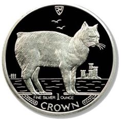 1 Crown (Silver Manx Cat)