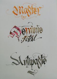 Calligraphy Types IX