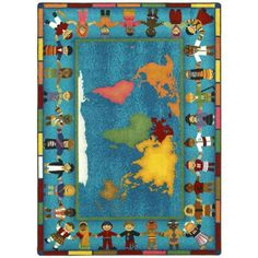 Joy Carpets Hands Around the World Kids Area Rug - 1488-