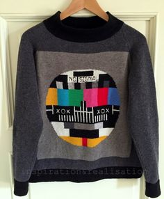 intarsia knitting: the TV monoscope
