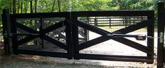 wood driveway gate - Google Search