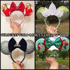 This is the last week to sign up for subscription boxes before my store closes for December!  Subscription boxes are $75 plus $15 domestic shipping (international shipping is $15 per box). Once you have secured a slot via Etsy payment you will fill out a simple questionnaire so I can identify your style and taste you will receive one surprise pair of ears each month in January February and March! These ears could be new unreleased designs seasonal designs or just unique designs of YOUR…