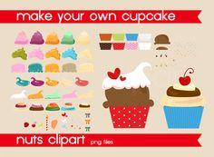 cupcake clipart, digital cupcake