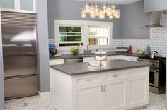 Perfect example of modernizing an old kitchen without taking the character away. Old Kitchen, Kitchen Ideas, Craftsman, Kitchen Remodel, Construction, Interior Design, Modern, Remodels, Houses