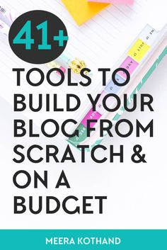 Looking for budget friendly and effective blogging tools, plugins and resources? I've compiled a list of 41+ essential blogging tools and resources that I've used to build my blog business from scratch and on a budget.