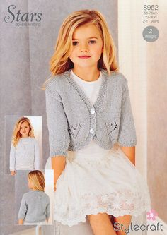 Cardigans in Stylecraft Stars DK (8952) | Girls Knitting Patterns | Knitting Patterns | Deramores