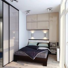 Contemporary bedroom Apartment - 20 Sleek Contemporary Bedroom Designs For Your New Home Small Apartment Bedrooms, Apartment Bedroom Decor, Small Rooms, Small Apartments, Small Spaces, Bedroom Furniture, Small Apartment Design, Studio Apartments, Apartment Furniture