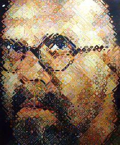 A self-portrait by Chuck Close  #art