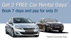 Two Free Car Rental Days! auto europe