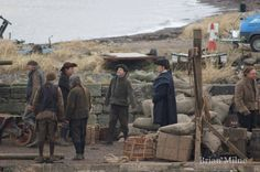 Photos of 'Outlander' Filming at Dunure Harbor, Ayrshire | Outlander TV News