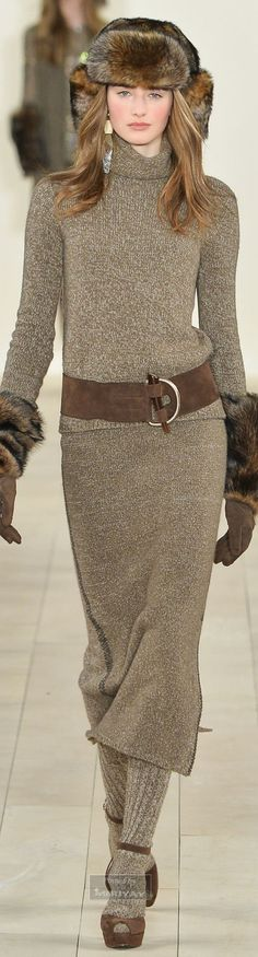 Ralph Lauren.Fall 2015. Sans the hat and mitts.