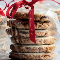 Yotam Ottolenghi and Helen Goh's recipe for Cranberry, Oat and White Chocolate Biscuits are a brilliant last minute edible gift idea with cranberry for an added festive touch. #Friendsmas #EatSweet