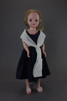 "20"" MADAME ALEXANDER CISSY IN BLUE DRESS. DOLL IN LIGHTLY PLAYED WITH CONDITI..."