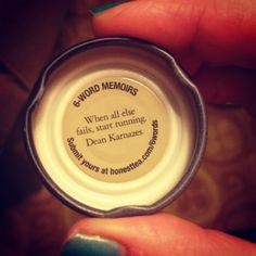 Random Dean Karnazes quote in Snapple bottle