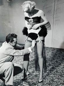 William Travilla dresses Marilyn Monroe