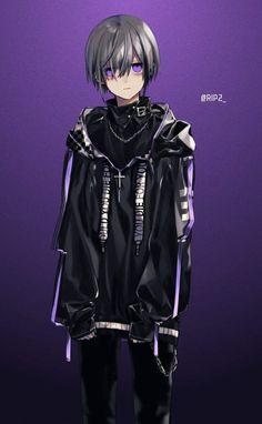 Anime boy grey hair and dark Hot Anime Boy, Dark Anime Guys, Cool Anime Guys, Anime Oc, Anime Demon, Manga Anime, Manga Basket, Anime Style, Anime Boy Zeichnung