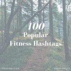 100 Fitness Hashtags
