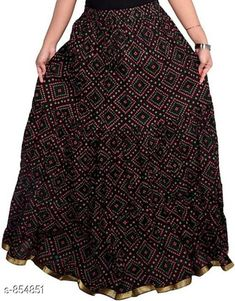 Ethnic Bottomwear - Skirts Stylish Cotton Women's Long Skirt Fabric: Cotton Waist Size: Up To 26 in To 40 in ( Free Size) Length: Up To 39 To 40 in Type: Stitched Description: It Has 1 Piece Of Women's Long Skirt Work: Printed  Country of Origin: India Sizes Available: Free Size, 26, 28, 30, 32, 34, 36, 38, 40   Catalog Rating: ★4 (1814)  Catalog Name: Ladies Cotton Printed Long Skirts Vol 15 CatalogID_99049 C74-SC1013 Code: 913-854851-657