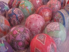 Easter Eggs died with old men's ties