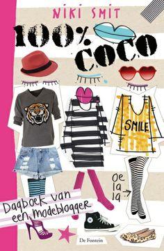 """Ik lees op dit moment 100% Coco het is een heel leuk boek over een modeblogger. Ik raad het boek zeker aan om te lezen! Stukje over het boek : Een modeblogger dus """"Coco,. Coco gaat naar de middelbare school, in haar klas zitten een paar meisjes die haar kledingstijl lachwekkend vinden en noemen haar: Coco de clouwn. Dat vind ze verschikkelijk maar ze start toch een modeblog """"THE STYLE TIGER,.. Niemand weet wie de style tiger is, Komt iemand er achter ?? Mooi geschreven ? """"Haha, grapje."""