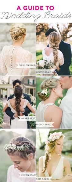 Get the lowdown on every kind of wedding braid you can imagine, from fishtails to french braids! | Brides.com