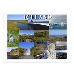 Iceland Summer Landscapes Postcard - summer gifts season diy template ideas