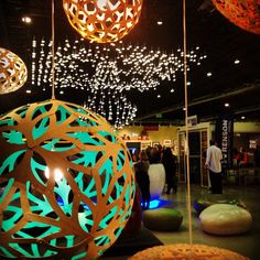 The WestEdge Design Fair opening night party, from the David Trubridge perspective.  Photo by Nichole Wright via instagram #lighting