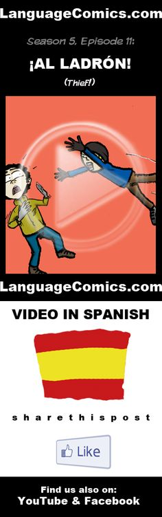 Practice your pronunciation and learn #Spanish with this episode and many more. Enjoy and share!  https://www.youtube.com/watch?v=I1VdUxuWpAU ---------------------------------------------  Also find us on http://www.Facebook.com/LanguageComics - - - http://www.YouTube.com/LanguageComicsTeam - - - http://www.Instagram.com/LanguageComics_