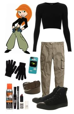 """""""DIY Halloween costume: Kim possible"""" by crazydirectionergirl ❤ liked on Polyvore"""