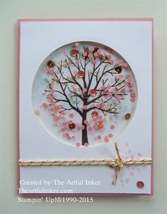Tree and Creation Station Bog Hop Sheltering Tree ( Stampin' Up!) shaker card from Sheltering Tree ( Stampin' Up!) shaker card from Stampin Up Karten, Karten Diy, Stampin Up Cards, Handmade Greetings, Greeting Cards Handmade, Tarjetas Diy, Window Cards, Shaker Cards, Creative Cards