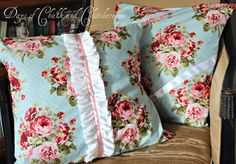 Days of Chalk and Chocolate: Shabby Chic Pillows (Simple Sewing)