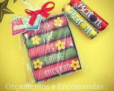 Lembrancinha de Natal - chocolate baton