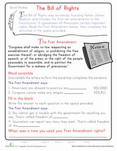 Worksheets Civics Worksheets pinterest the worlds catalog of ideas second grade civics government vocabulary worksheets learn first amendment